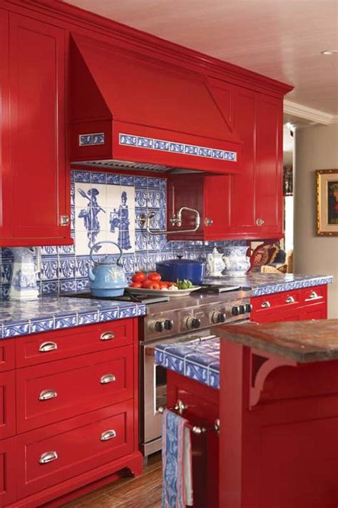 red and blue kitchen kitchen red white and blue pinterest