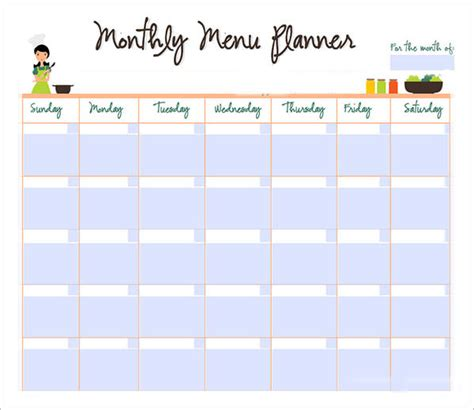 monthly dinner calendar template sle monthly schedule template 8 free documents in