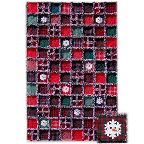 Snowman Rag Quilt Pattern by Rag Quilt Snowman Quilt And Snowman On