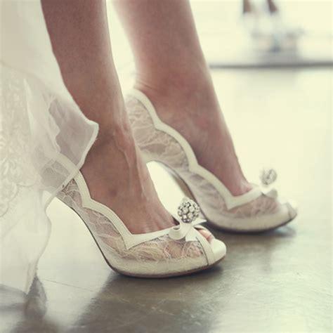 Wedding Shoes High Heels Bridal by White Lace Peep Toe Wedding Shoes Rhinestone Luxurious
