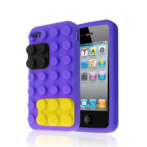 3d Building Blocks Brick Style Soft Silicone Iphone 6 Black 3d building blocks lego brick soft silicone stand cover for iphone 4s 4 ebay