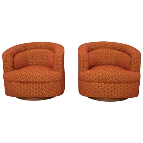 club chairs that swivel milo baughman style swivel club chairs at 1stdibs