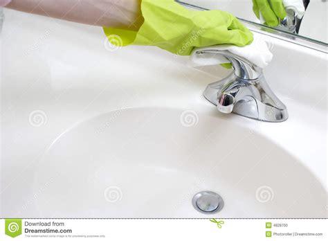 cleaning bathroom sink cleaning bathroom sink stock photo image 4828700