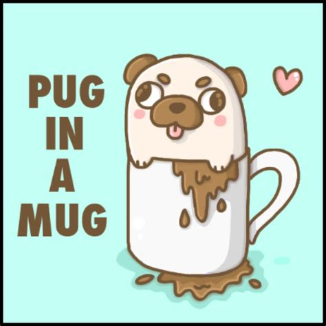 anime pug pug in a mug by never melt on deviantart