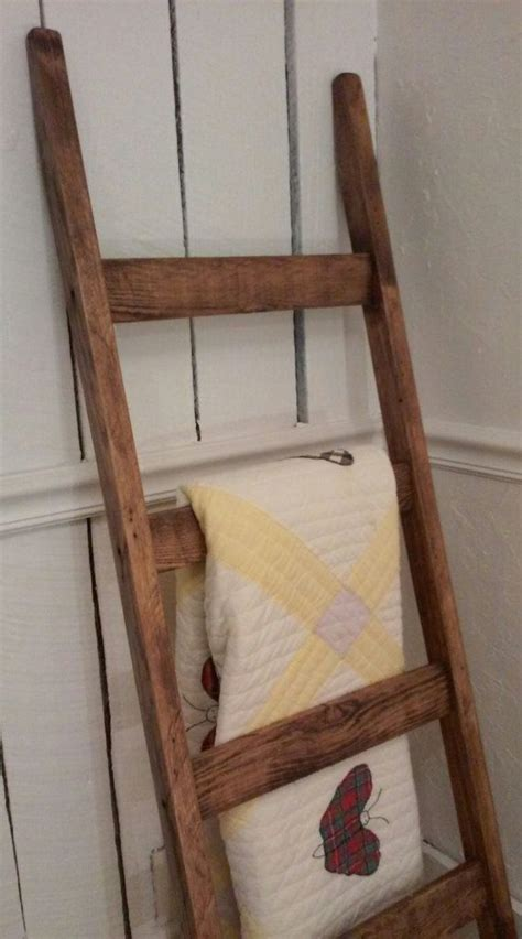 How To Make A Ladder Quilt Rack by Rustic Quilt Ladder Blanket Ladder Rustic By