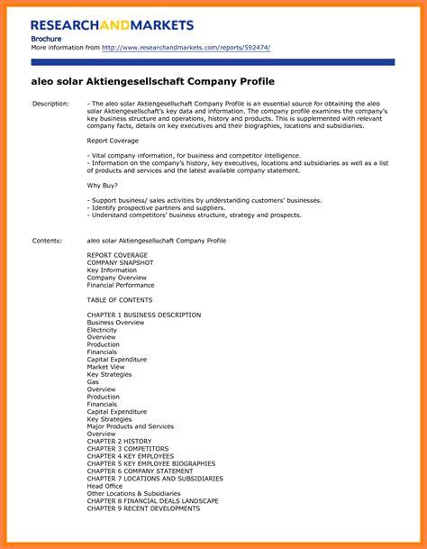 6 sle company profile templates company letterhead