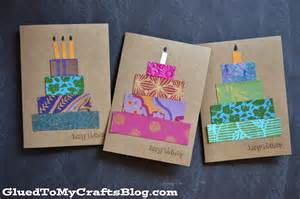 paper scrap birthday cards craft idea stickyu