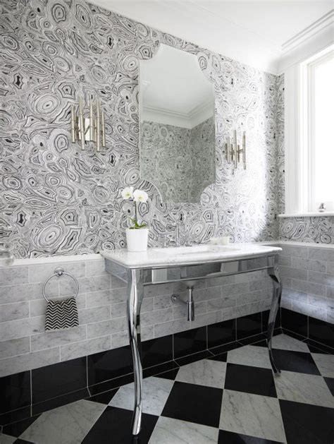 closet wallpaper on pinterest vinyl flooring bathroom quot malachite quot wallpaper in white and black by fornasetti for