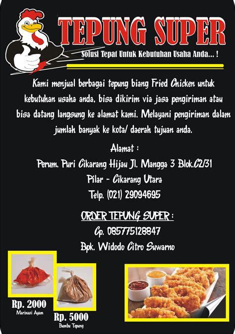 membuka usaha fried chicken distributor bumbu fried chicken cianjur tepung super