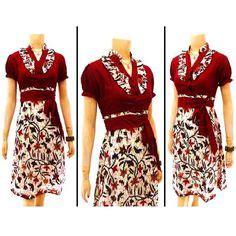 5 Motif Kemeja Pria Kombinasi Batik Cap Hitam Putih Elegan dresses and models on
