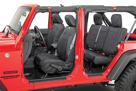 jeep wrangler heated seats install rugged ridge elite ballistic front seat covers for 07 18