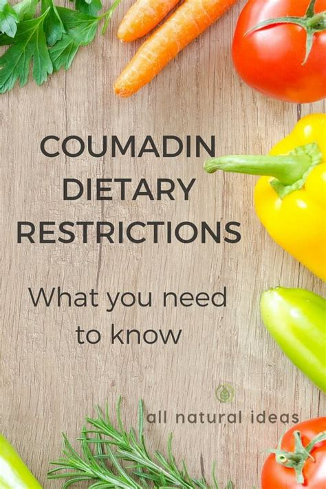 i want to know all natural herbs and vitamin that inhibit 5ar coumadin diet restrictions what you need to know all