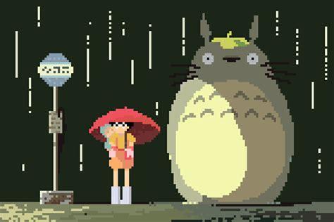 Anime 8 Bit by 1080p Studio Ghibli Anime 8bit Pixel 5 3