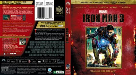 Dvd Bluray Ironman iron 3 scanned covers iron 3 3d scanned bluray cover dvd covers