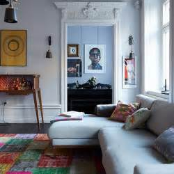 Ideas Eclectic Room Design Eclectic Living Room With Grey Sofa Decorating Housetohome Co Uk