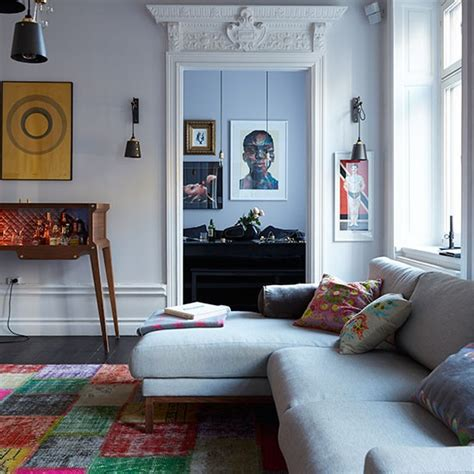 living room display living room decorating ideas housetohome co uk eclectic living room with grey sofa decorating
