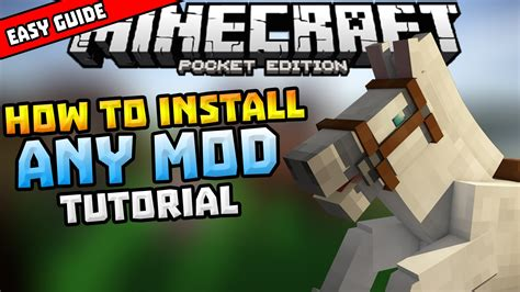 mods in minecraft install how to install mods in mcpe simple installing guide