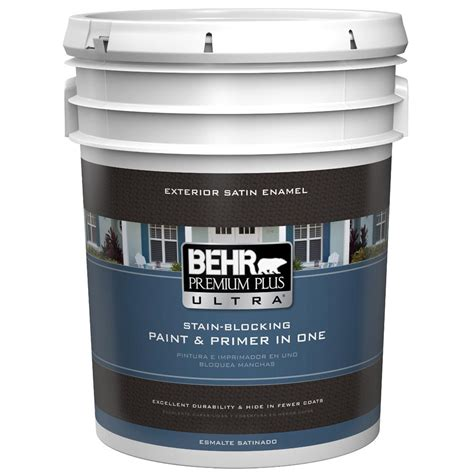 behr premium plus ultra 5 gal ultra white satin