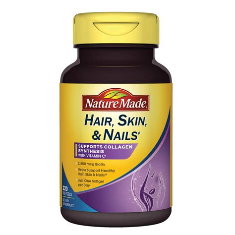hair and nail supplement nature made hair skin and nails supplement 220 ct bj