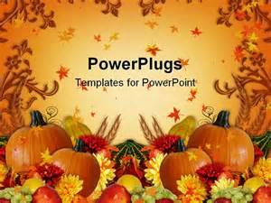 thanksgiving powerpoint template powerpoint template thanksgiving harvest orange