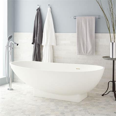 68 quot candra oval acrylic freestanding tub bathroom oval modern bathtub signature hardware