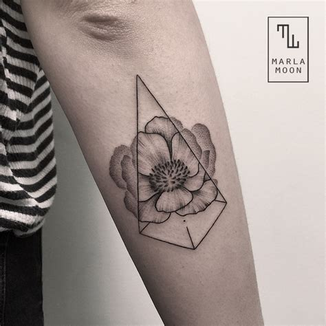 geometric tattoo artist europe beautiful tattoos by marla moon blend natural subjects