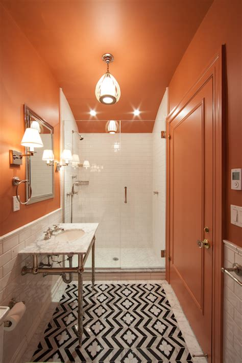 orange and black bathroom orange and black bathroom eclectic bathroom the