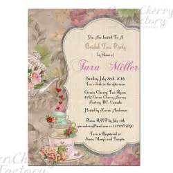 items similar to shabby bridal shower high tea invite baby shower tea invitation