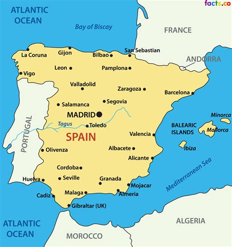 espana map cities in spain map imsa kolese