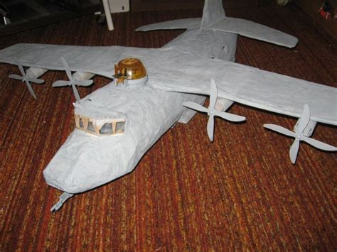 How To Make A Paper Mache Airplane - joecustoms gt vehicles gt g i joe gt c 130 hercules
