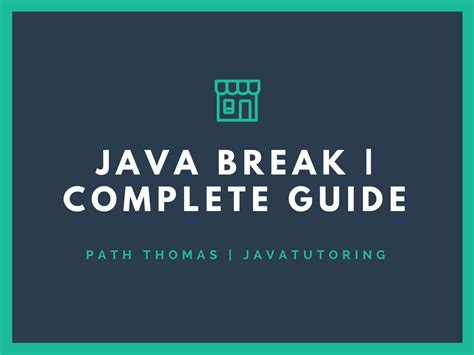 java pattern line break java break tutorial for beginners