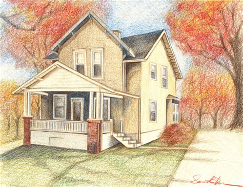 drawing of houses house drawing colored pencil drawing house art by