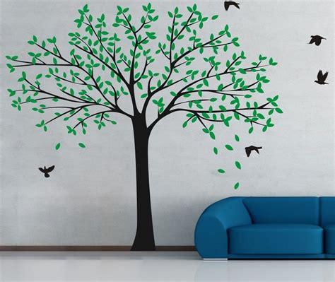 living room tree photo frames wall decal sticker wackydot wallpaper large size family photo frame tree wall sticker