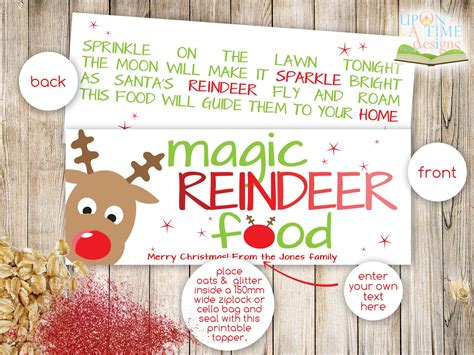 printable magic reindeer food gift tags search results for printable page of reindeer food poem