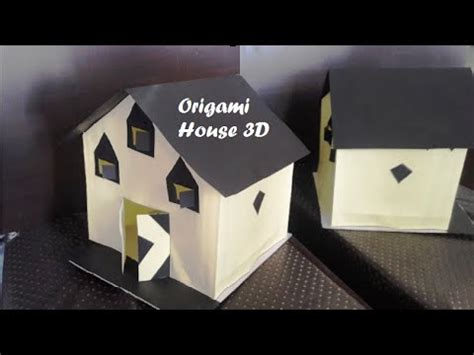 How To Make Origami House 3d - 3d paper house diy craft origami