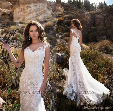 2018 lace wedding dresses country forest style count button back hoho cheap mermaid