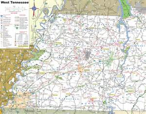map west cities map of west tennessee