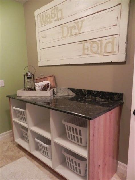 Laundry Room Folding Table Ideas 25 Best Ideas About Laundry Folding Station On Laundry Basket Storage Utility Room