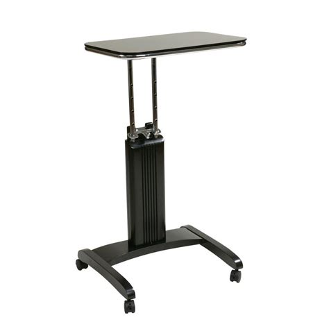 Ospdesigns Precision Black Laptop Stand With Wheels Psn625 Laptop Desk With Wheels