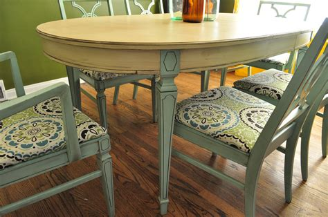 Painted Dining Room Table items similar to sold custom painted dining room table an
