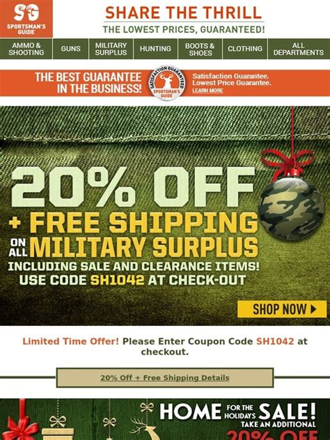 does best buy have military discount the sportsman s guide 20 off free shipping on all