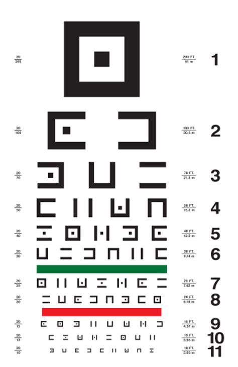 large printable eye chart abstract symbols eye chart 2