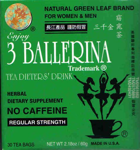 tea that makes you go to the bathroom 3 ballerina herbal tea