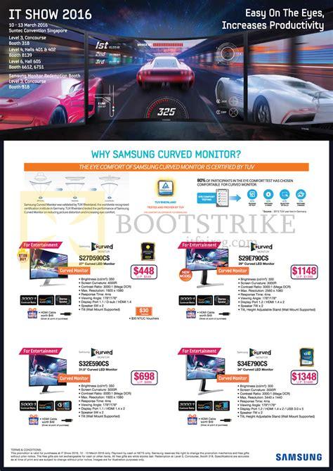 Samsung L E D Tv Price List by Samsung Monitors Led Curved S27d590cs S29e790cs