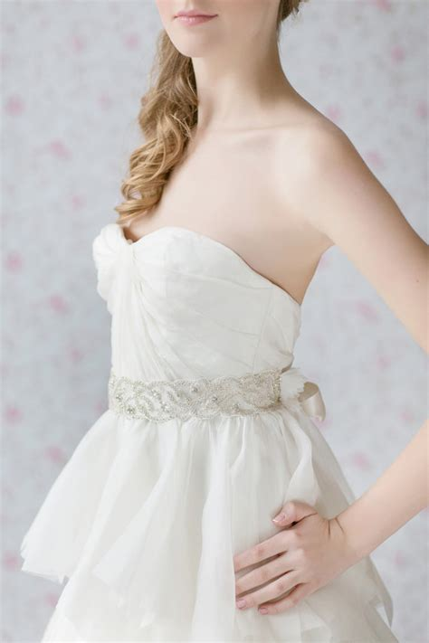 bridal sash beaded sash wedding dress belt ivory