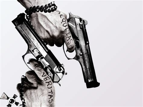 1024x768 guns and tattoos desktop pc and mac wallpaper
