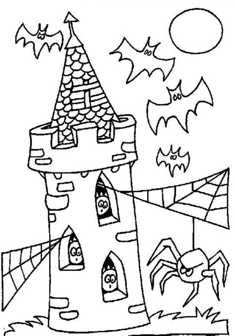 halloween coloring pages castle tower of terror coloring pages hellokids com