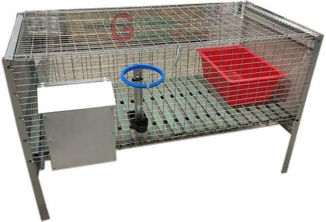gabbie per conigli usate gabbia per conigli ingrasso con rete antitopo cm 100