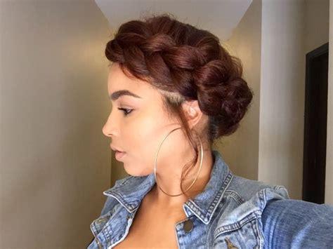 braided halo natural hair pinterest protective halo braid hair makeup beauty pinterest halo braids