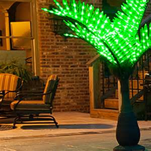 outdoor lighted palm trees lighted palm trees decor yard envy